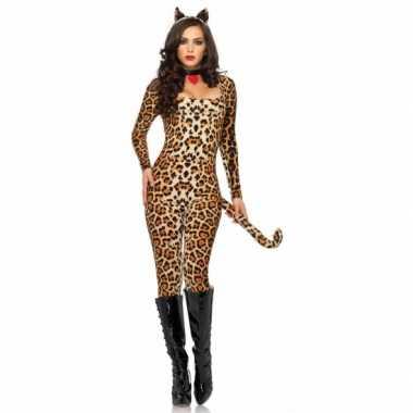 Carnaval  Catsuit me luipaardprint dames kostuum