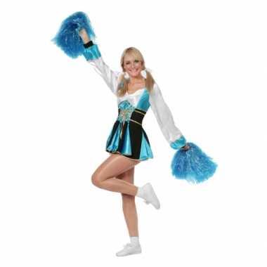 Carnaval  Cheerleader kostuumje aqua vrouwen