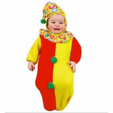 Clown carnavalskostuum baby