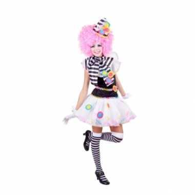 Carnaval  Clown jurkje zwart wit kostuum