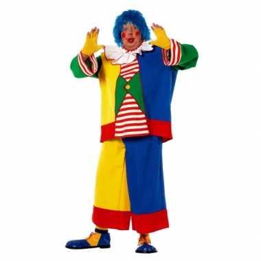 Clowns carnavalskostuum heren een grote maat