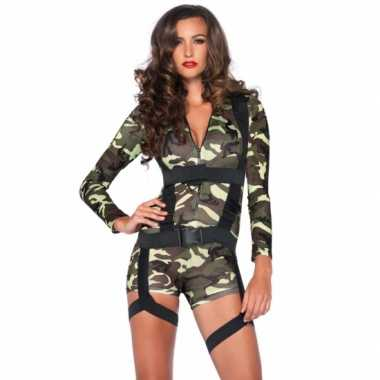 Kostuums Dames.Carnaval Commando Leger Kostuums Dames