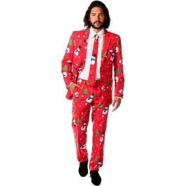 Carnaval compleet kostuum kerst print