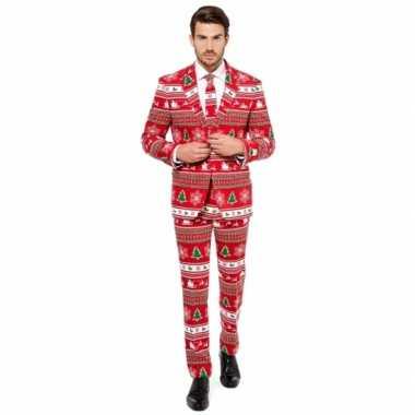 Carnaval compleet kostuum kerstboom print