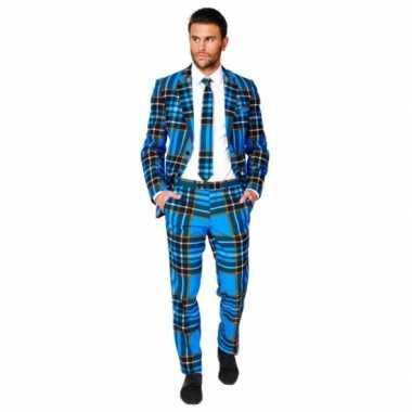 Carnaval  Compleet kostuum Schotse ruit