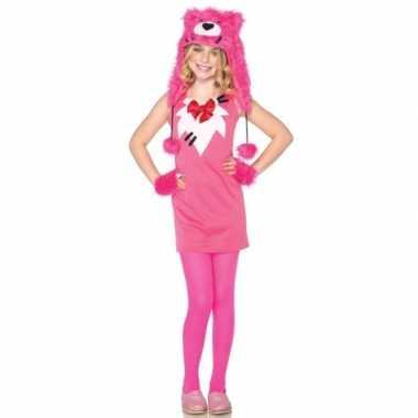 Carnaval  Compleet meiden beren kostuumje roze