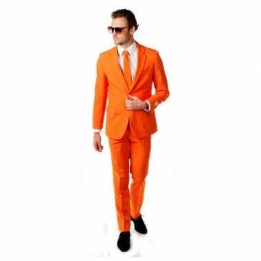 Carnaval  Compleet oranje kostuum inclusief das