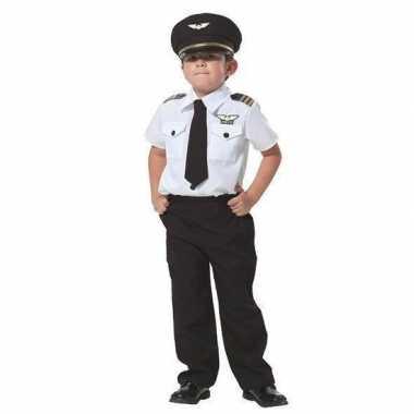 Carnaval complete piloten pak jongens kostuum