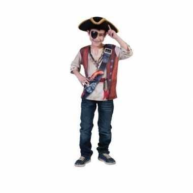 Carnaval  D piraat shirt kids kostuum