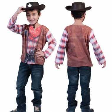 Carnaval  D Western shirt kinderen kostuum
