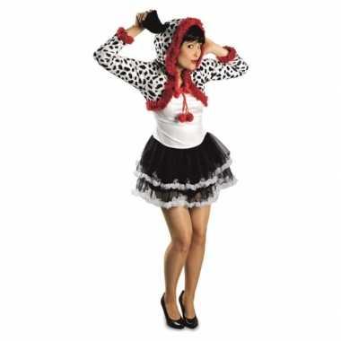 Carnaval dames dalmatier hond kostuum