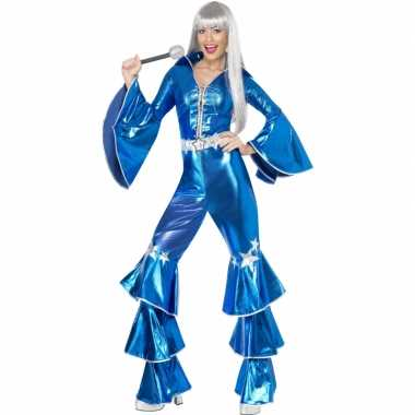 Carnaval  Dames disco kostuum blauw