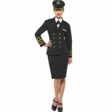 Carnaval  Dames kapitein kostuum