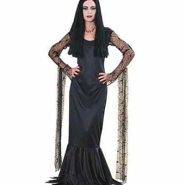 Carnaval  Dames Morticia jurk kostuum