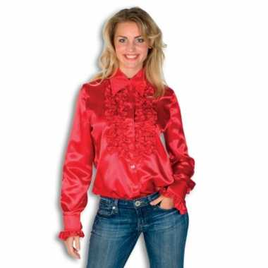 blouse dames rood
