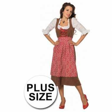 Carnaval  Dames Tiroler jurken grote maten kostuum