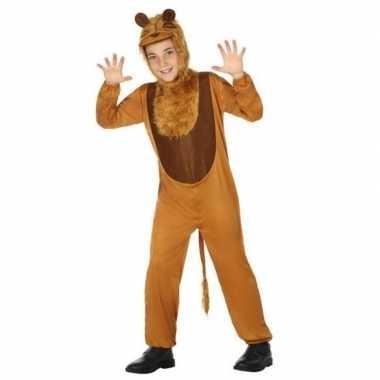 Carnaval dierenkostuum leeuw/leeuwen verkleed kostuum kinderen