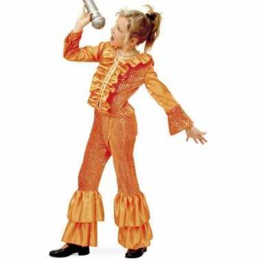 Carnaval  Disco kostuum meisjes oranje