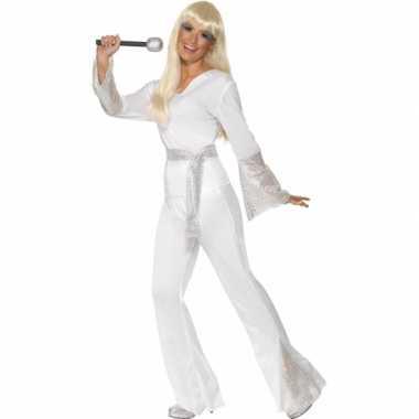 Carnaval  Disco pak dames wit kostuum