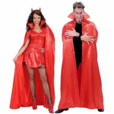Carnaval  Duivel cape rood kostuum
