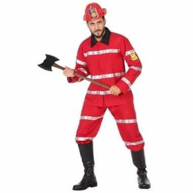 Feest/carnaval brandweermannen verkleedpak heren kostuum
