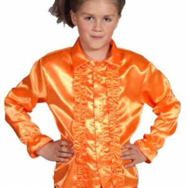 Carnaval feestblouse oranje kinderen kostuum