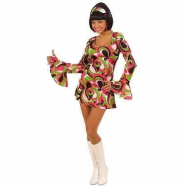 Carnaval  Flower power jurkje dames kostuum