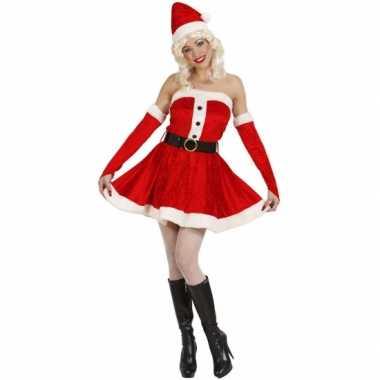 Carnaval  Fluwelen damesjurk kerst kostuum