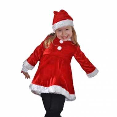 Carnaval  Fluwelen kerstjurk kinderen kostuum