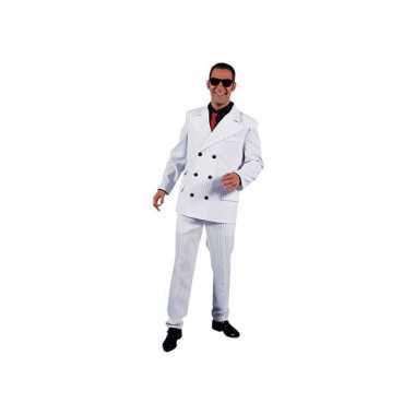 Gangster carnavalskostuum heren wit