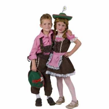 Carnaval  Geblokt overhemd kinderen kostuum