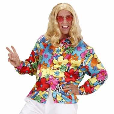 Carnaval  Gekleurde bloemen shirt kostuum