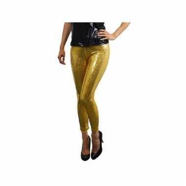 Carnaval  Gouden glitter legging pailletten kostuum
