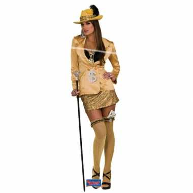 Carnaval  Gouden madam kostuumje vrouwen