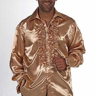 Carnaval gouden rouches blouse heren kostuum