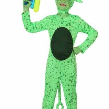 Carnaval  Groen alien kostuum kinderen