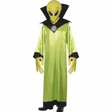 Carnaval  Groen alien kostuum volwassenen