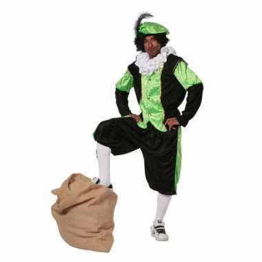 Carnaval  Groen zwarte pieten kostuum budget