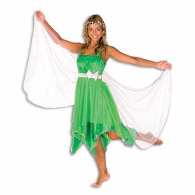 Carnaval  Groene elfen jurk dames kostuum