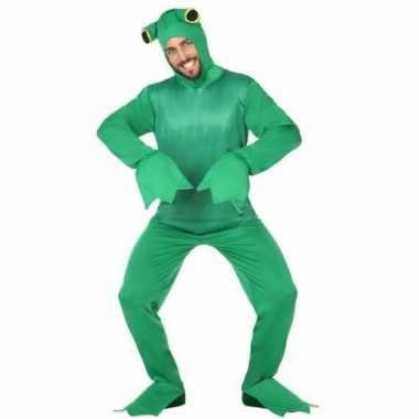 Carnaval groene kikker verkleedkostuum volwassenen