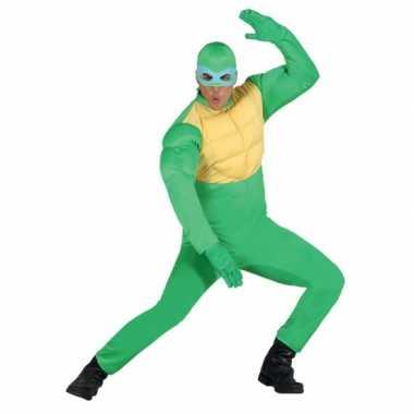 Carnaval  Groene ninja kostuum heren