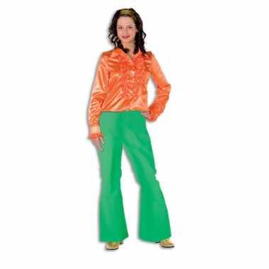 Carnaval  Groene seventies broek dames kostuum