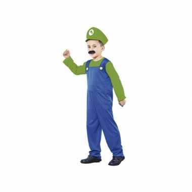 Carnaval  Groene Super Loodgieter kostuum kids