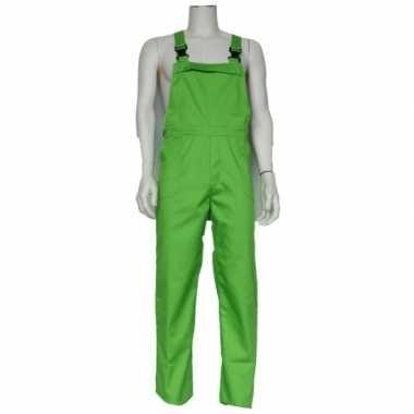 Carnaval groene tuinbroek kinderen kostuum