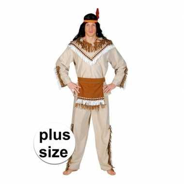 Grote maat indiaan adahy carnavalskostuum heren