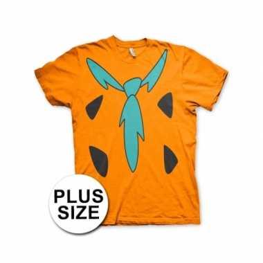 Carnaval grote maten fun flintstones shirt heren kostuum