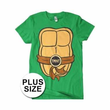 Carnaval grote maten fun ninja turtles shirt heren kostuum