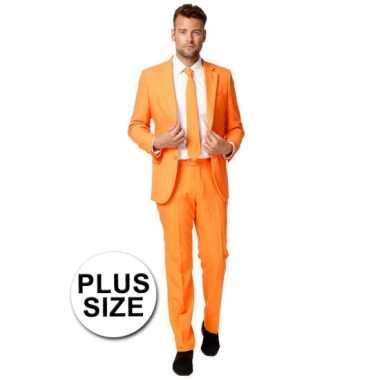 Carnaval  Grote maten heren kostuum oranje