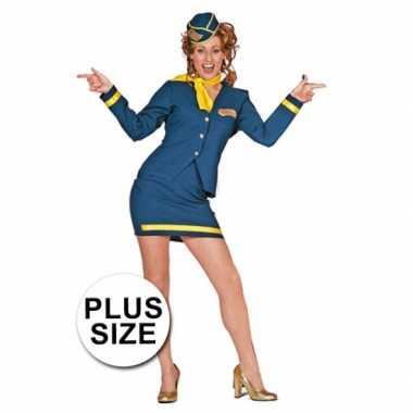 Carnaval  Grote maten kostuum stewardess