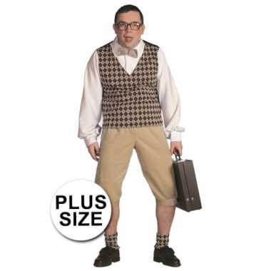 Carnaval  Grote maten nerd pak heren kostuum